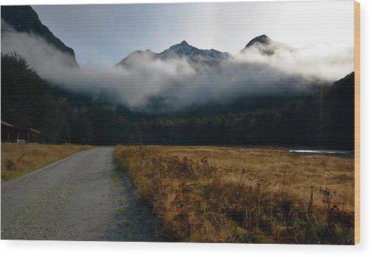 Cloud Clad Caples Wood Print