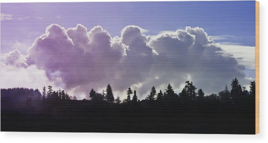 Cloud Express Wood Print