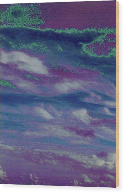 Cloud Fantasia Wood Print