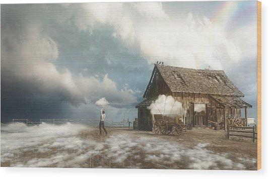 Cloud Farm Wood Print