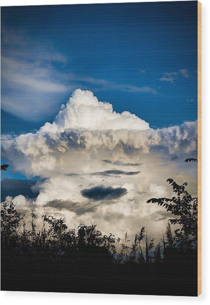 Cloud Formation Wood Print by Michel Filion