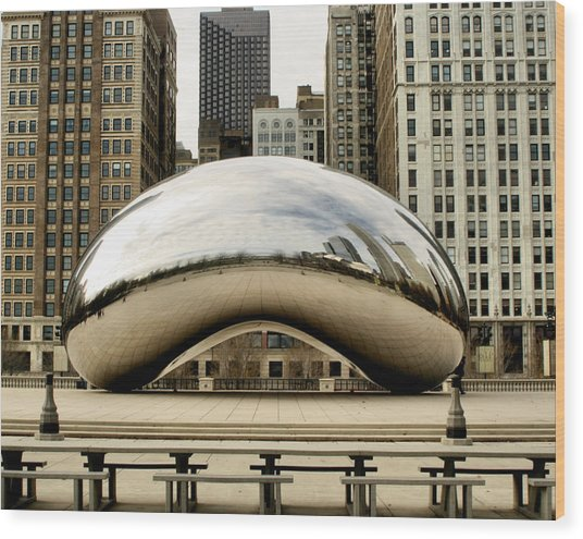 Cloud Gate - 3 Wood Print
