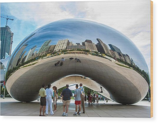 Cloud Gate Aka Chicago Bean Wood Print