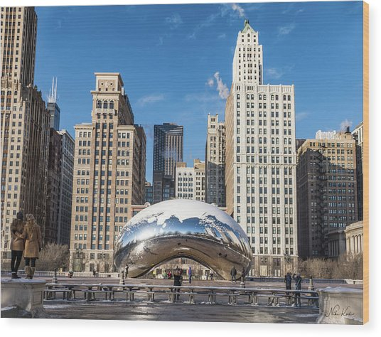 Cloud Gate To Chicago Wood Print