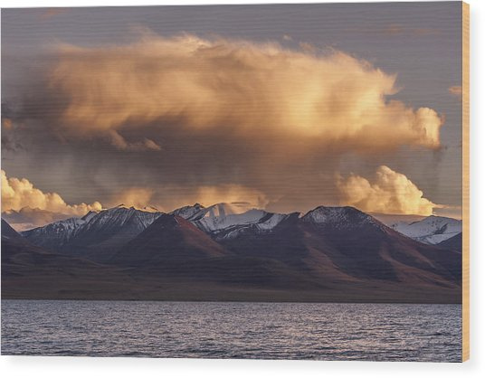 Cloud Over Namtso Wood Print