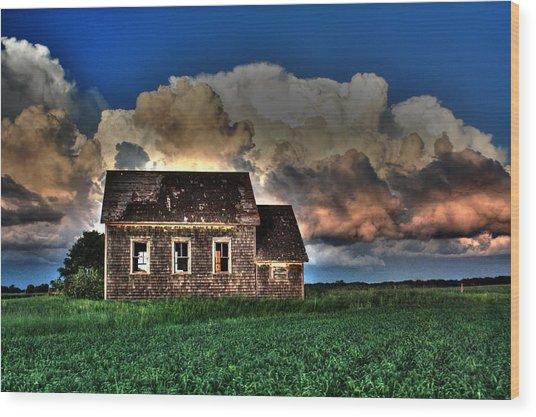Cloud Over One Room School Wood Print