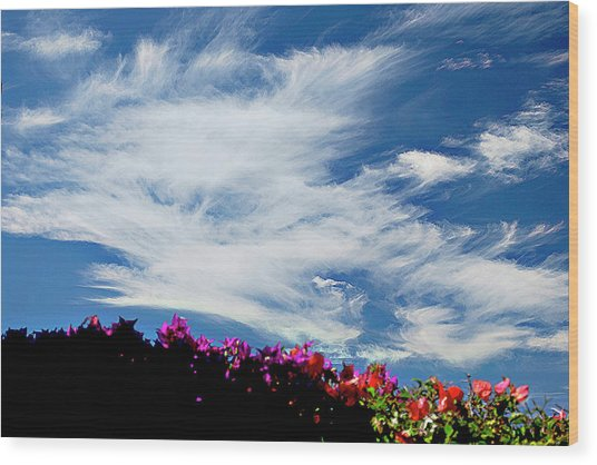 Cloud Patterns Wood Print