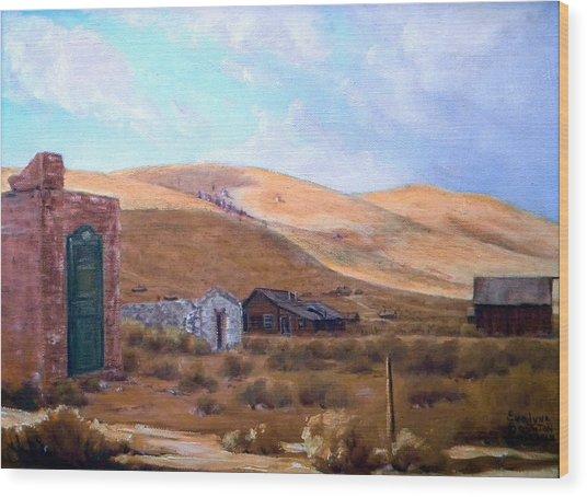 Cloud Shadows Over Bodie California Wood Print by Evelyne Boynton Grierson