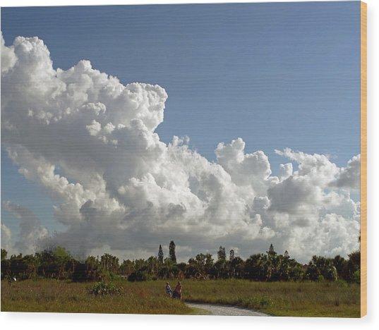 Cloud Show Wood Print by Pepsi Freund