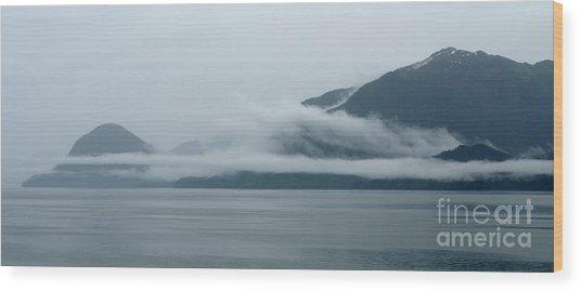 Cloud-wreathed Coastline Inside Passage Alaska Wood Print