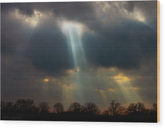 Cloudbreak Wood Print
