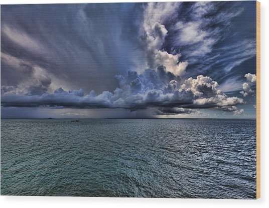 Cloudburst Wood Print