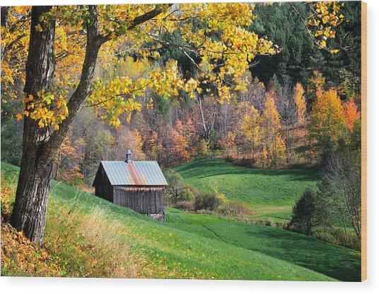 Cloudland Rustic Barn - Pomfret Vermont Wood Print