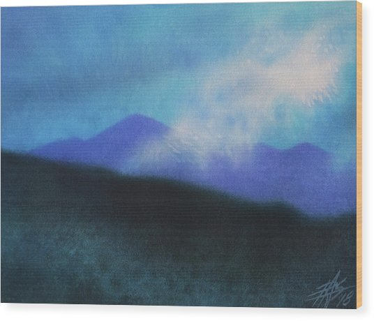 Cloudline IIi Wood Print by Robin Street-Morris