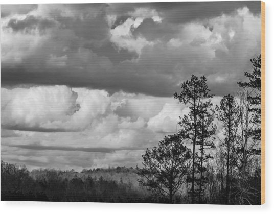 Clouds 2 Wood Print