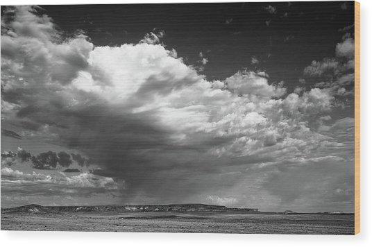 Clouds Along Indian Route 13 Wood Print