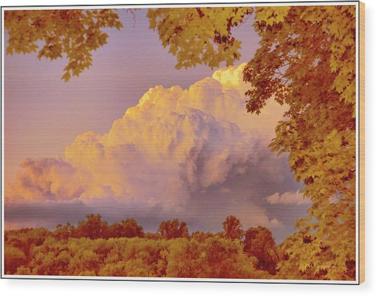Clouds At Sunset, Southeastern Pennsylvania Wood Print