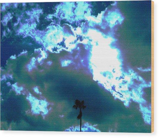 Clouds Wood Print by Douglas Kriezel