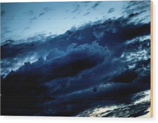 Clouds Fall Wood Print