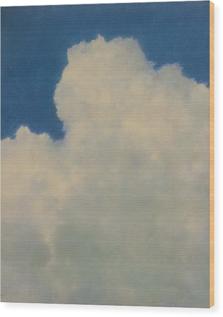 Clouds Illusions Wood Print by Gary Kaemmer