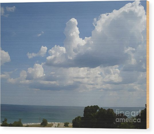 Clouds In August Wood Print by John  Bichler