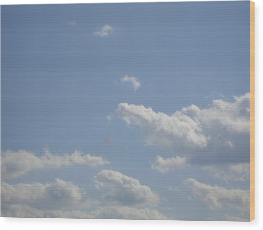 Clouds In The Sky Two Wood Print by Daniel Henning