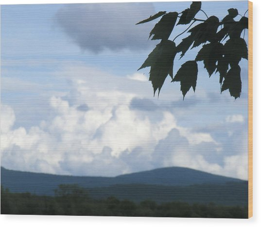 Clouds Wood Print by James and Vickie Rankin