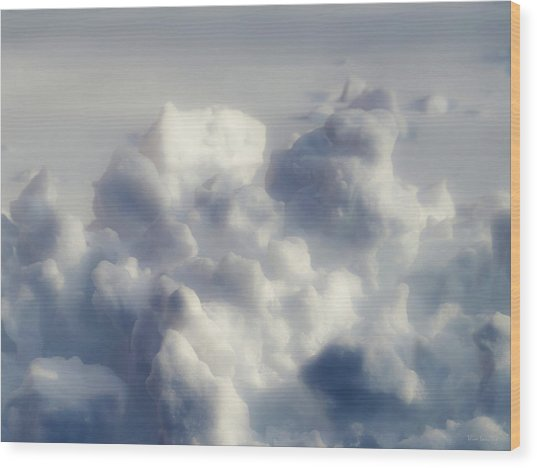 Clouds Of Snow Wood Print