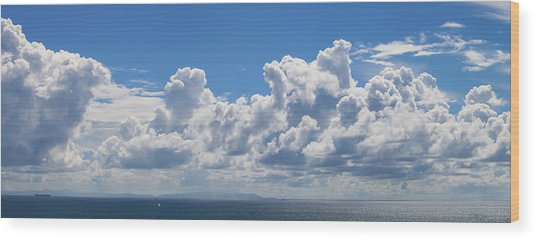 Clouds Over Catalina Island - Panorama Wood Print