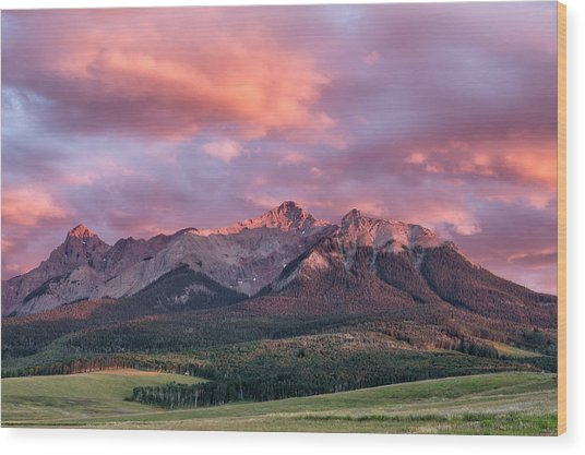 Clouds Over Hayden At Sunset Wood Print