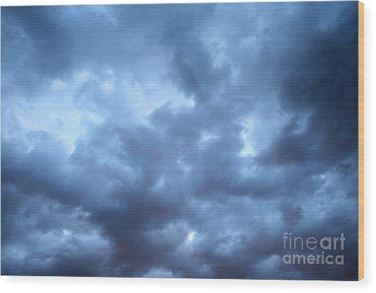 Clouds Over Kansas Wood Print