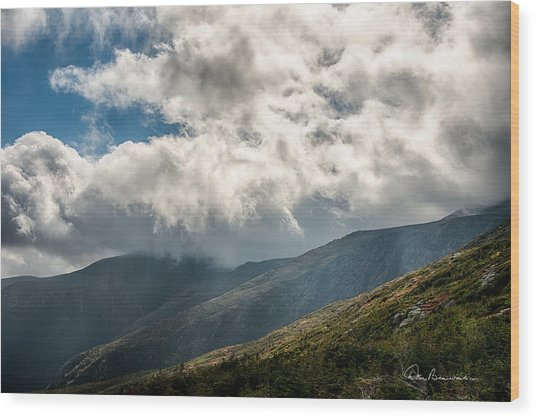 Clouds Over Mount Washington 7592 Wood Print