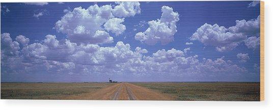 Clouds Over Prairie Amarillo Tx Wood Print