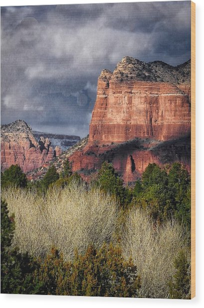 Clouds Over Sedona Wood Print