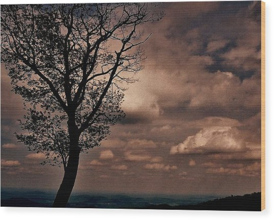 Clouds Over Shenandoah Wood Print
