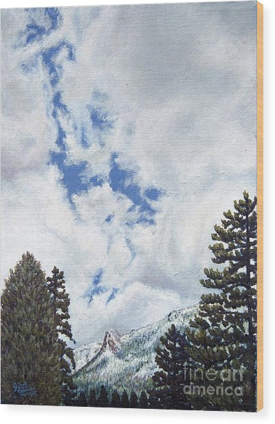 Clouds Over Tahquitz Wood Print