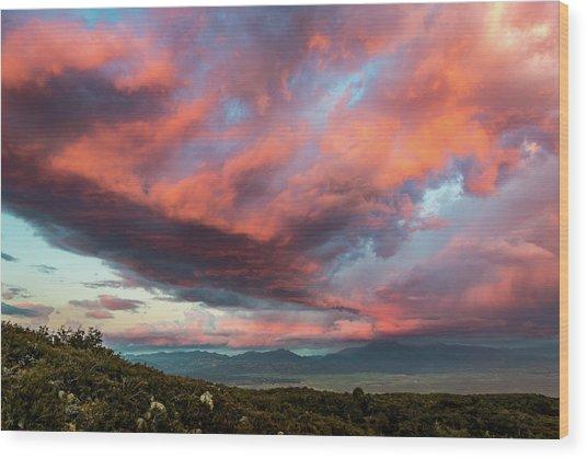 Clouds Over Warner Springs Wood Print