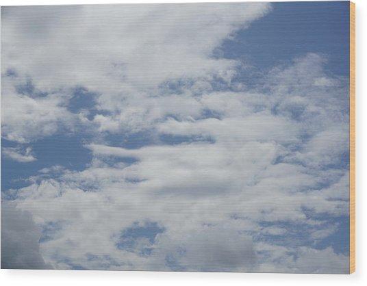 Clouds Photo II Wood Print