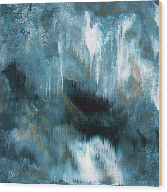 Clouds Rolling In- Abstract Art By Linda Woods Wood Print