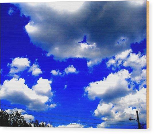 Clouds Study  1 Wood Print by Teo Santa