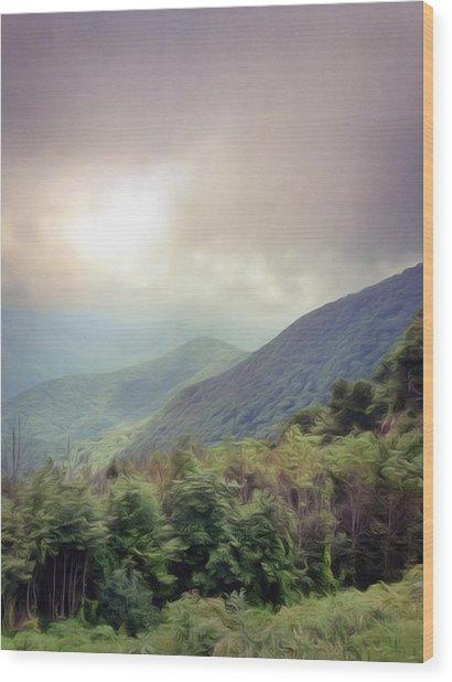 Clouds Upon Graybeard Wood Print