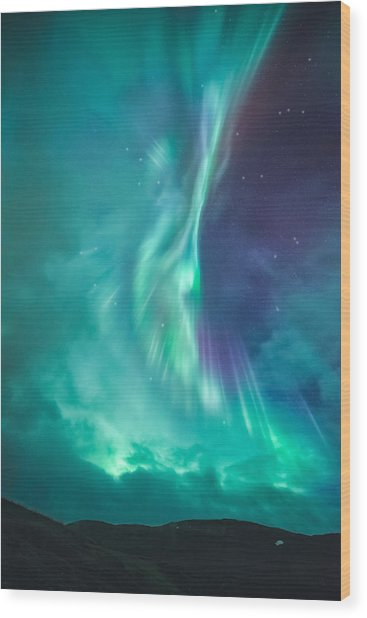 Clouds Vs Aurorae Wood Print