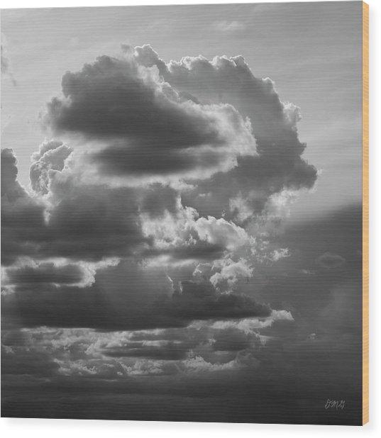 Cloudscape Xv Bw Sq Wood Print