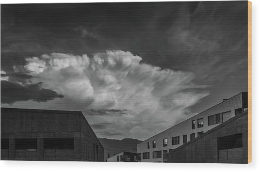 Cloudy Sky Over Bolzano Wood Print