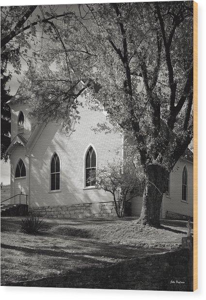 Clover Hollow Church Wood Print
