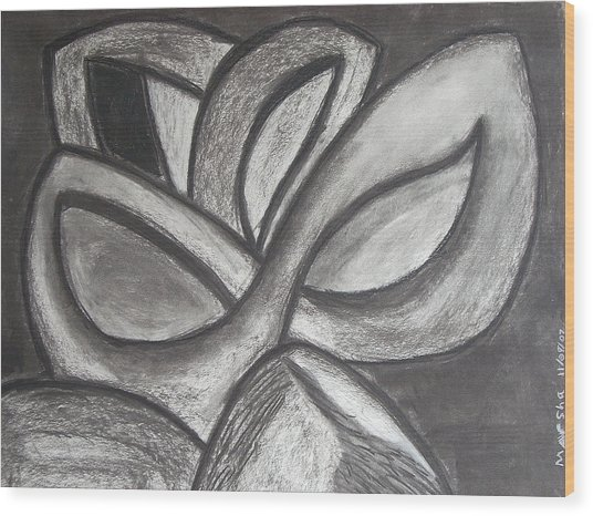 Clover Leaf Wood Print by Marsha Ferguson