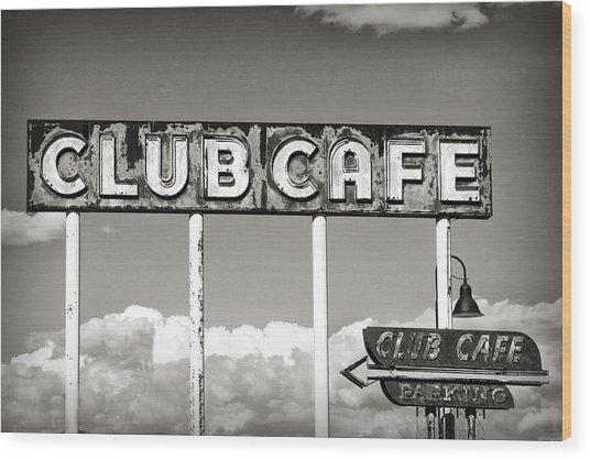 Club Cafe Wood Print
