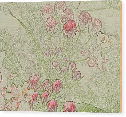 Cluster Wood Print