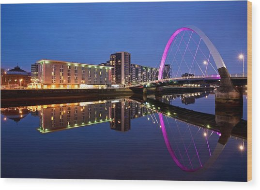 Clyde Arc Glasgow Wood Print