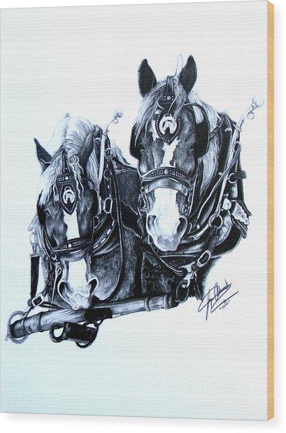 Co Workers Wood Print by Paper Horses Jacquelynn Adamek